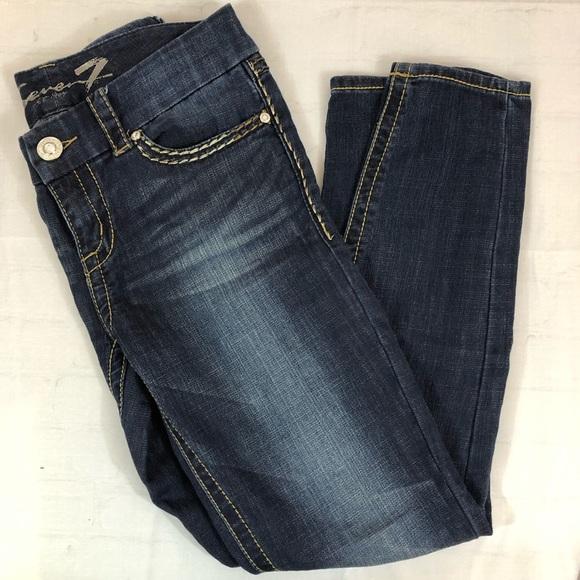 Seven7 Denim - Seven7 Premium Straight Leg Jeans Jeweled